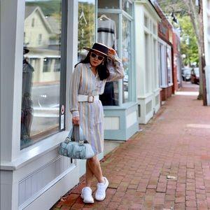 Ralph Lauren pastel strips silk dress Sz 6
